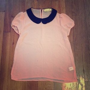 Princess Vera Wang Peter Pan Collar Blouse
